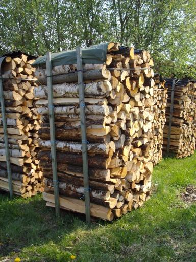 Brennholz/Kaminholz Birke/Erle 1 m lang gespalten