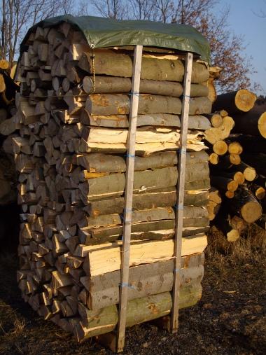 Brennholz/Kaminholz Buche 1 m lang gespalten
